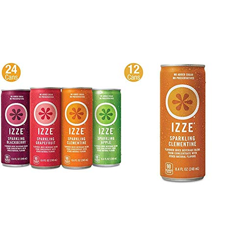 IZZE Sparkling Juice, 4 Flavor Variety Pack (24 Count) Now $13.81 (Was $25)