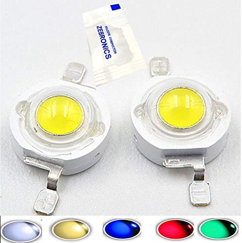 Led Chip 10 pcs 3.0-3.2v 350MA (1W White) 6000-6500k High Power Led Chip Super Bright Intensity SMD COB Light Emitter Components Diode 1 W Bulb Lamp Beads DIY Lighting