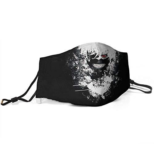 Mundschutz Gesichtsschutz Tokyo Ghoul Antistaub Waschbar und Wiederverwendbar Bandana mit Filtern