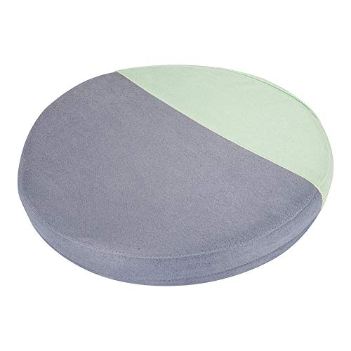Fyore Round Seat Cushion for Office Chair | Lower Back Pain, Tailbone, Coccyx & Sciatica Relief | Pure Memory Foam for Relaxing Yoga & Meditation | Home & Car Use (Gray Green, 13131.6 in)