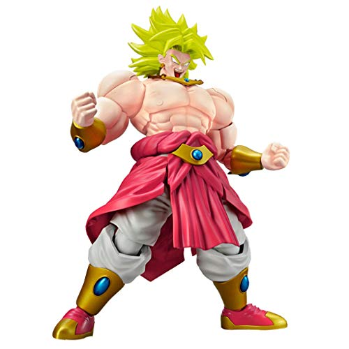 YYBB Dragon Ball Z Figure - Rise Standard Legendary Super Saiyan Broly Collectible Figure Popular Characters Statue Bust Decorations Teenage Gift, 18CM Toys image