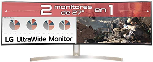 "LG 49WL95C-W - Monitor Profesional UltraWide DualQHD de 124.5 cm (49"") con Panel IPS (5120 x 1440 píxeles, 32:9, 350 cd/m², sRGB >99%, 1000:1, 5 ms, 60 Hz, DPx1, HDMIx2, USB-Cx1, USB-Ax4) Color Blanco"
