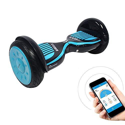 Hoverboard con LED e Borsa per Il Trasporto, 6.5 Pollici Scooter Elettrico Auto bilanciato Certificato UL2272, Smart Flash Skateboard a Due Ruote per Bambini e Adulti
