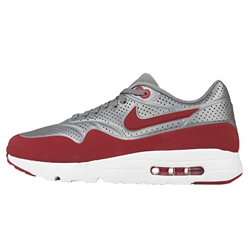Nike Air Max 1 Ultra Moire, Scarpe Sportive, Uomo, Grigio (Mtlc Cool Grey/Gym Red-White), 40.5