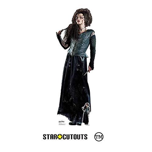 Star Cutouts Ltd De los Libros Oficiales de Harry Potter con Recortes de Estrellas, cartón, Bellatrix Lestrange, 163 x 55 x 163 cm