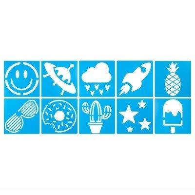 Yoobi™ Yoobi Stencils, Poly and V2 - Blue (10pk)