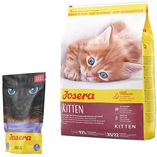 Josera 10 kg Kitten + 70 g Filet Nassfutter *getreidefrei*