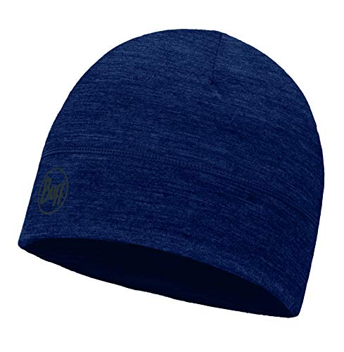 Buff Merino Lana 1, Gorro Unisex Adulto, Azul (Solid Denim), Talla única
