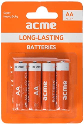 Acme AA Batterie Super Heavy Duty R6P/4 Stück, Orange