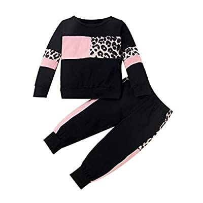 WESIDOM Baby Girl Clothes Sets, 2pcs Autumn Long Sleeve Clothes Outfits Toddler Girl Sweater Sets Black