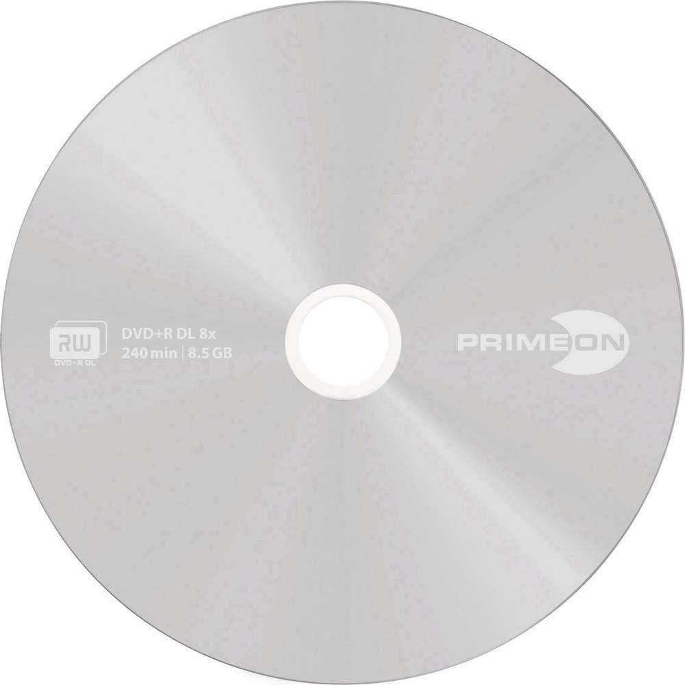 Primeon Dvd R Dl 8 5gb 240min 8x Cakebox Computer Zubehör