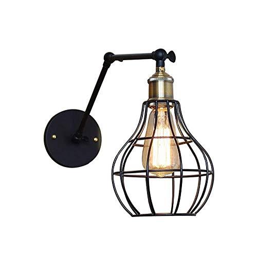 HJXSXHZ366 Retro mini wandlamp Sconce ouderwetse industriële metalen verstelbare swing arm muur lamp antiek ijzer muur lamp Amerikaanse land woonkamer slaapkamer verlichting E27