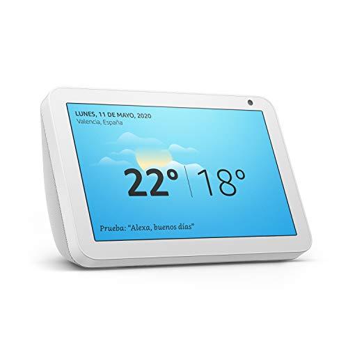 Echo Show 8, reacondicionado certificado, tela de color gris claro - Una pantalla inteligente HD de 8 pulgadas con Alexa