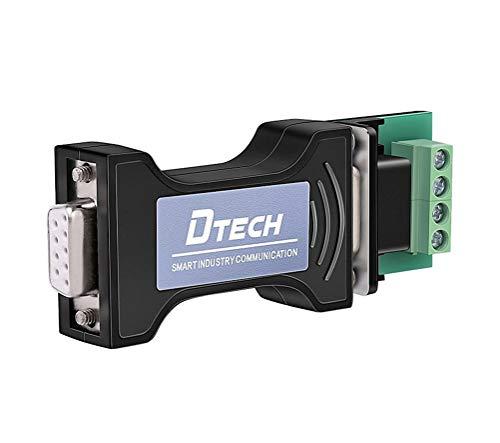DTECH RS232C to RS485 変換 コンバーター アダプター Portpower シリアル ポート 給電 RS232 ⇔ RS485 変換器 データ コンバータ TVS内蔵