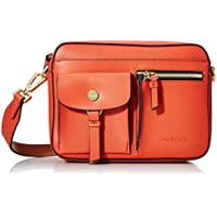 Calvin Klein Rossa Smooth Novelty Organizational Top Zip Crossbody