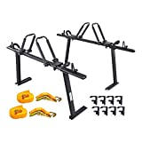 AA-Racks Model APX25 Fit Tacoma 2005-On Aluminum Truck Rack with 8 Non-Drilling C-Clamps and 2 Sets Folding Kayak J-Racks with Ratchet Lashing Straps & Ratchet Bow and Stern Tie Down Straps