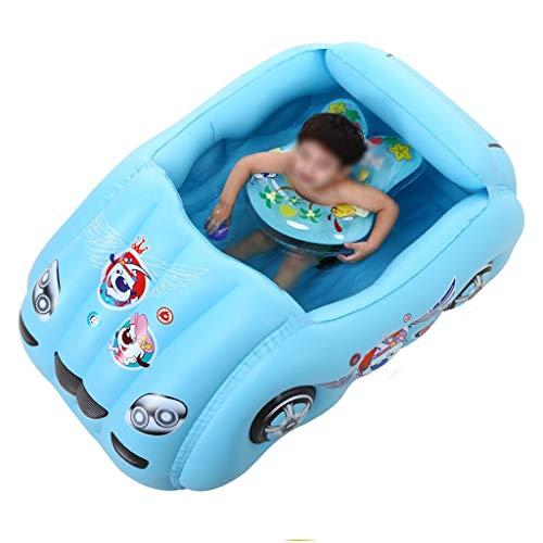 Planschbecken | Aufblasbare, Rutschfeste Unterlage | Schwimmbecken For Kinder Und Erwachsene For Innen Und Außen | Robust Und Langlebig, PVC-Kunststoff (Farbe : Blue)