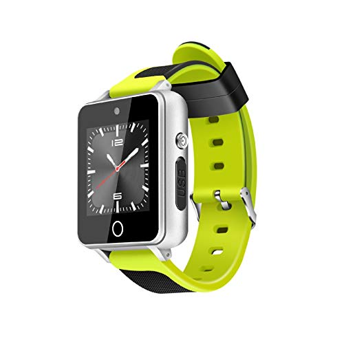 ZGYYDY Smartes SportarmbandSmart Watch Phone Android 5.1 1.54zoll 1g 16g WiFi GPS SIM Mtk6580 Quad Core Bt 4.0 Smartwatch Fitness Tracker Grün