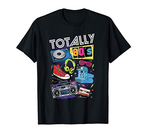 Totally 80's T-shirt with 80s Tech Graphic.Many colors, adult, child sizes