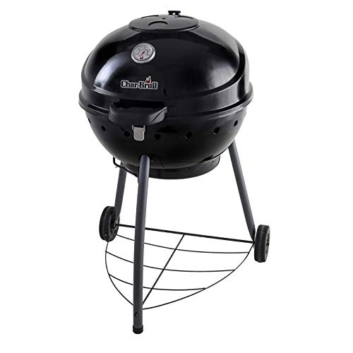 Barbecue à charbon Char-Broil Kettleman™, finition noire.