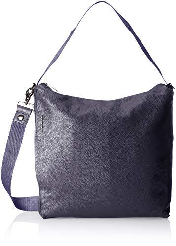 Mandarina Duck Mellow Leather Tracolla, Borsa Donna, Blu/Dress Blue, 10x21x28.5 cm (B x H x T)