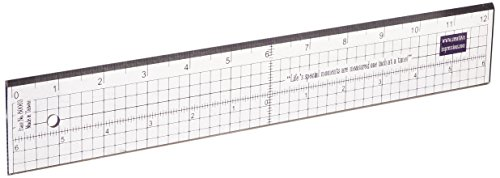 Creative impressions metal edge acrylic ruler 12 inch (80003)