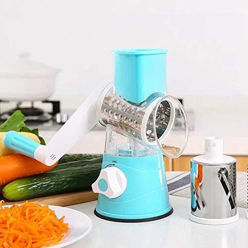 LIKEZZ Tagliaverdure Manuale affettatrice grattugia affettatrice Tonda Multifunzione Formaggio di Patate Gadget da Cucina Accessori da Cucina, Blu, Taglia Unica