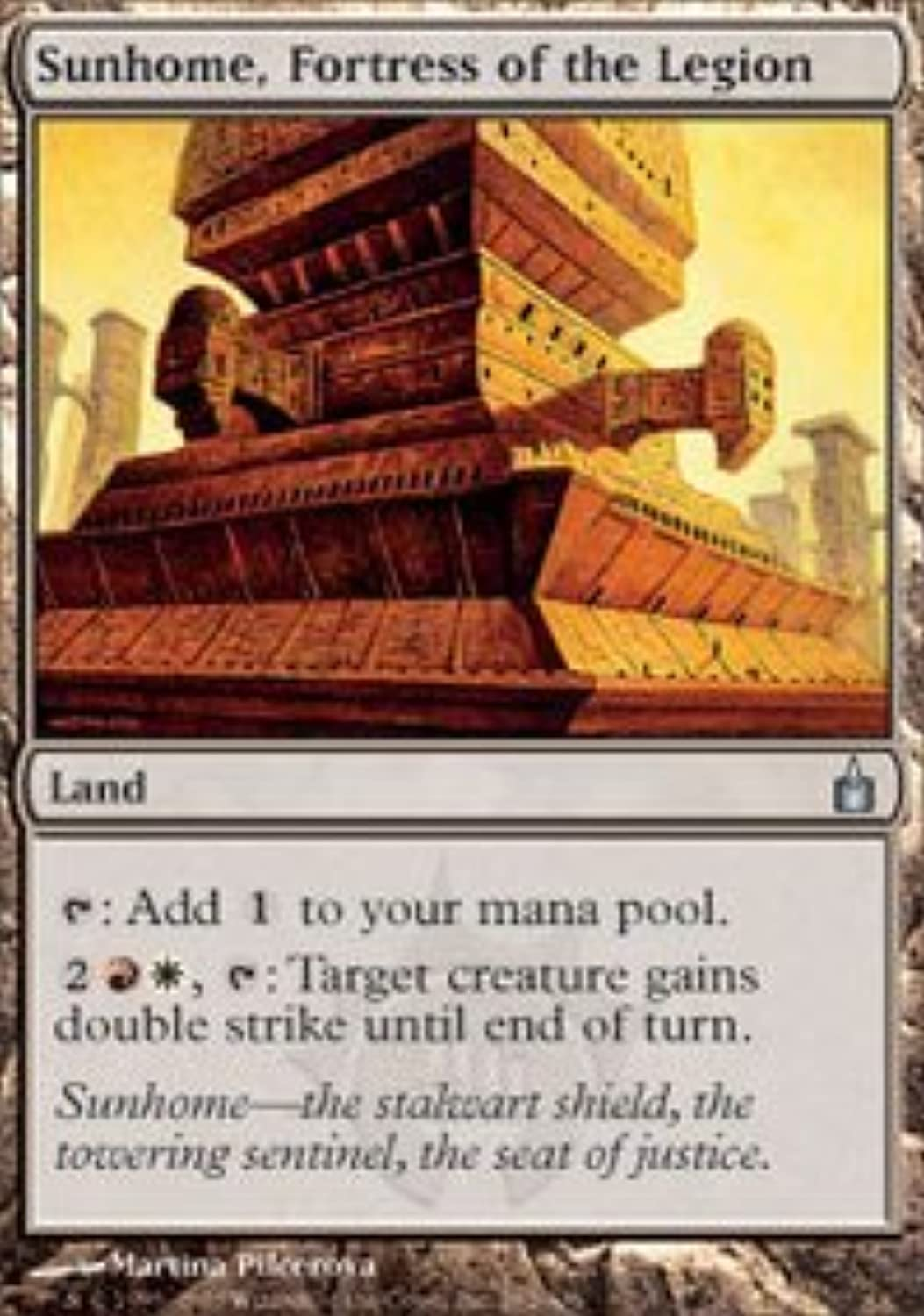 Magic  the Gathering - Sunhome, Fortress of the Legion - Ravnica - Foil by Magic  the Gathering