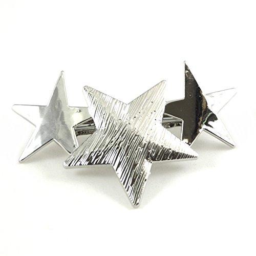 rougecaramel - Accessoires cheveux - Barrette cheveux métal 3 étoiles - argenté