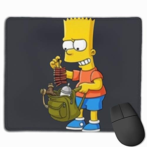 Bart Simpson Mouse Pad Non-Slip Rubber Base Gaming Mousepads for Computers Laptop Office