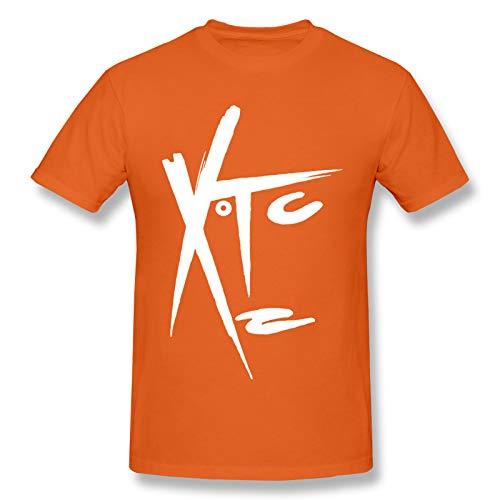 WJSDOWOWEN Xtc-Band Men'S Basic Short Sleeve T-Shirt Classic Natural Orange S
