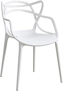 Panana Set Of 4 Chairs Black Style indoor outdoor Modern Retro Dining Garden Chairs (White)