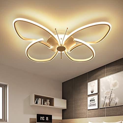 RUNNUP Kinder Schlafzimmerlampe Deckenleuchte Modern Kreative Design Schmetterlingsform Metall Acryl Kinderlampe Deckenlampe Ultraslim Lampe für Wohnzimmer Zuhause Kinderzimmer 22W 3000K-Warm light