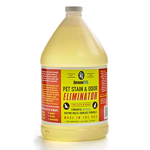 GREEN PIG Multi Surface Enzymatic Pet Stain & Odor Eliminator, All Natural, Safe, Environmentally Friendly, 1 Gallon