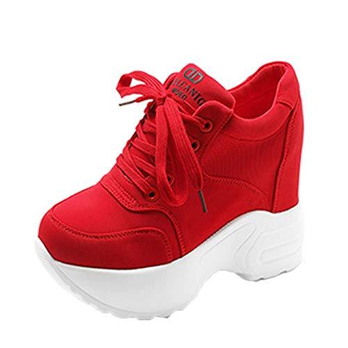Zapatillas de Plataforma para Mujer Transpirables Ligeras de cuña Zapatillas Bajas cómodas Antideslizantes Deportivas Zapatos Casuales