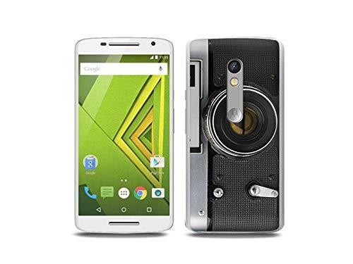 Hülle für Motorola Moto X Play - Hülle, Silikon, Gummi Schutzhülle - Retro Aparat