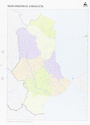 Mapa político Andalucía Mapas mudos