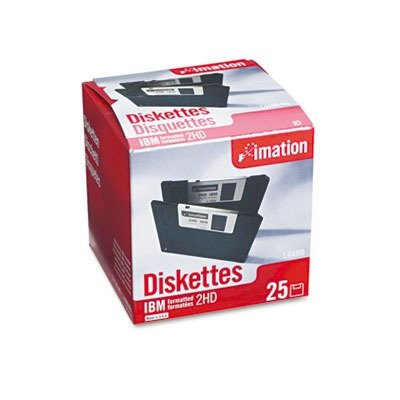 "3.5"" Floppy Diskettes, IBM-Formatted, DS/HD, 25/Pack by IMATION (Catalog Category: Computer/Supplies & Data Storage / Data Storage)"