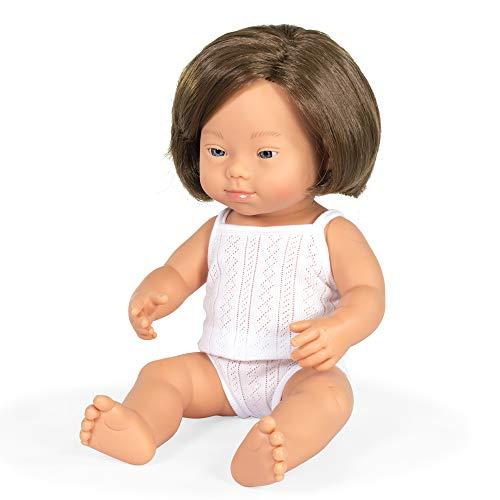 Miniland- Muñeca bebé Europea niña con síndrome de Down (31174)