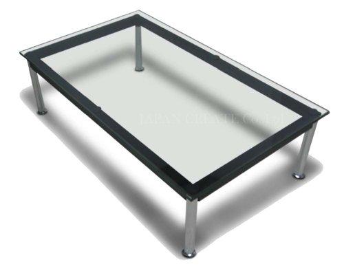 ル コルビジェlc10テーブル 120cm 強化ガラス co0001-314 66750