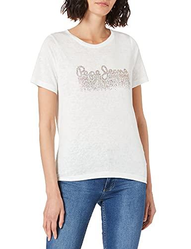 Pepe Jeans DAVINIA Vestido, Blanco (803off White), Large para Mujer