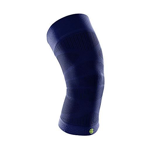 BAUERFEIND Sports Compression Knee Support, Ginocchiere Unisex-Adult, Blu Marine, M