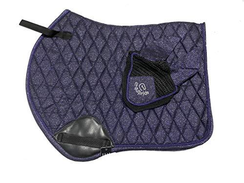 Equipride GP - Tappetino per sella con velo scintillante, colore: Blu navy