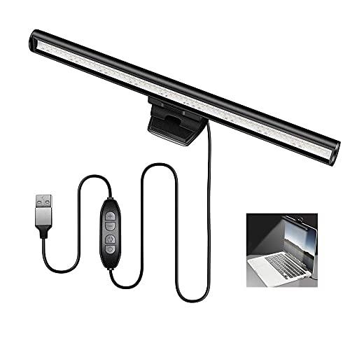 Lámpara LED para monitor de portátil,Lampara Escritorio LED,Lámpara de pantalla LED Amigable para Los Ojos,Sin Deslumbramiento Ni Parpadeo,Luz Operada por USB,Uso en El Hogar/Oficina/Café