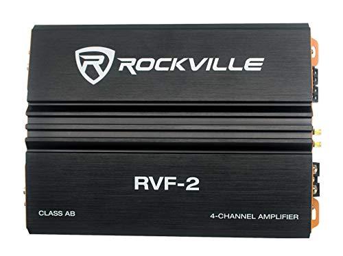 Rockville RVF-2 1200w Peak/300w CEA RMS 4 Channel Car Amplifier Stereo Amp
