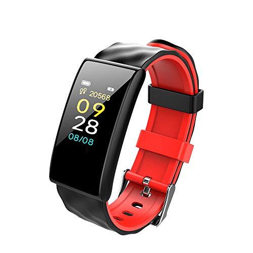 Ningz0l Fitness Tracker Smart Armband horloge bloeddrukmeting calorieën stappenteller waterdicht foto sportarmband armband rood