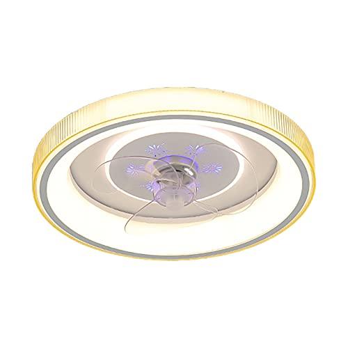 Ventilador Techo Con Luz Y Mando A Distancia Silencioso Lampara Ventilador Led Techo 3 Velocidades Regulable Iluminación Led Interior Para Dormitorio Salon Cocina