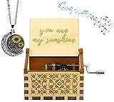 You Are My Sunshine Holz-Musikkästchen, mit Lasergravur, Vintage-Holz-Sonnenschein