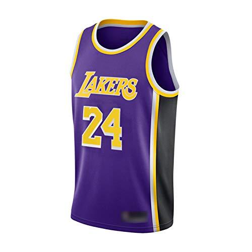 DIWEI Bryant #24 Camiseta De Baloncesto- Los Angeles Lakers # 24 Kobe Bryant Jerseys Transpirable Malla Bordada Baloncesto Swingman Jersey Purple.a-M