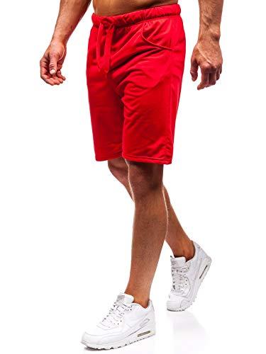 BOLF Herren Hose Kurzehose Sporthose Jogging Sport Style J.Style B1002 Rot M [7G7]
